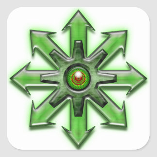 Arrows of Chaos - Green Square Sticker