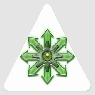Arrows of Chaos - Green Triangle Sticker