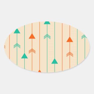 Arrows Oval Sticker