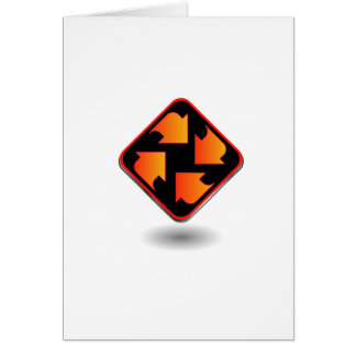 arrows pointing in different direction card