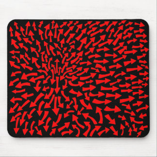 Arrows - Red on Black Mouse Pad
