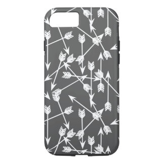 Arrows Scattered / Grey White / Andrea Lauren iPhone 7 Case