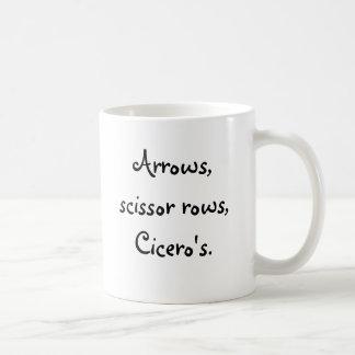 Arrows, scissor rose Cicero's. Coffee Mug