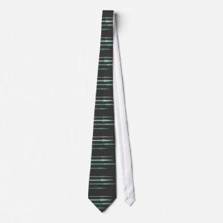 Arrows - teal neck tie