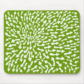 Arrows - White on Green 669900 Mouse Pad