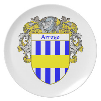 Arroyo Coat of Arms/Family Crest: Melamine Plate