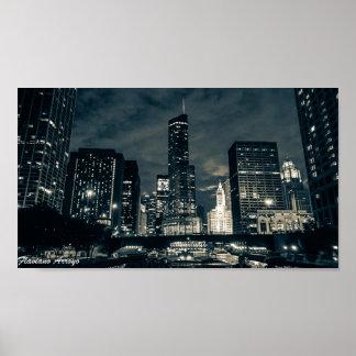 Arroyo de Flaviano - Chicago por la noche 1 Poster