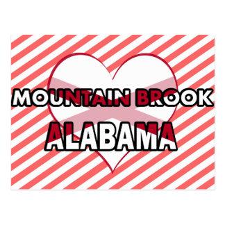 Arroyo de la montaña, Alabama Postales
