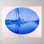 """Arroyo de Raftboat """"diez"""", 1885 Póster"""