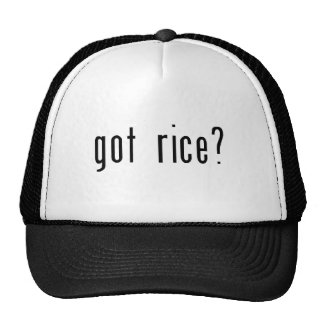 ¿arroz conseguido? gorras