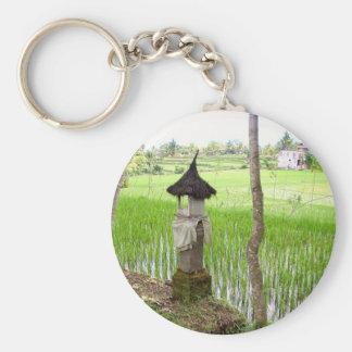 Arroz de arroz, templo, Ubud Bali, Indonesia Llavero Redondo Tipo Pin