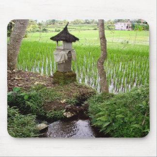 Arroz de arroz templo Ubud Bali Indonesia Tapete De Raton