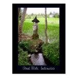 Arroz de arroz, templo, Ubud Bali, Indonesia Postal