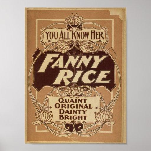 Arroz de Fanny, 'Bright delicado original pintores Póster