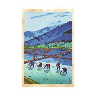 Arroz de Shiro Kasamatsu que planta paisaje del ha Impresión En Lona Estirada