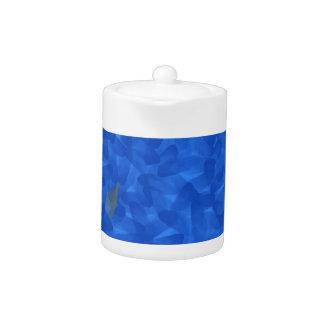Arroz en una solución azul