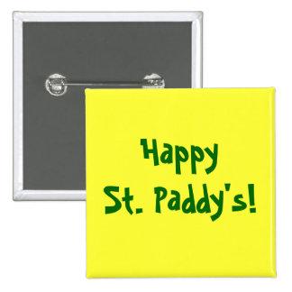 ¡Arroz feliz del St.! El botón de St Patrick Pins