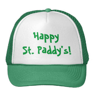 ¡Arroz feliz del St.! El gorra verde de St Patrick