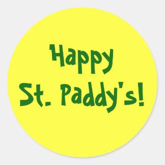 ¡Arroz feliz del St.! El pegatina de St Patrick
