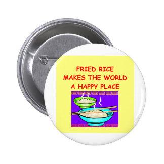 arroz frito pin redondo de 2 pulgadas