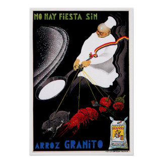 Arroz Granito Vintage Food Ad Art Poster