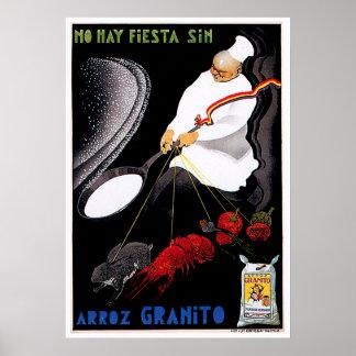 Arroz Granito Vintage Food Ad Art Poster