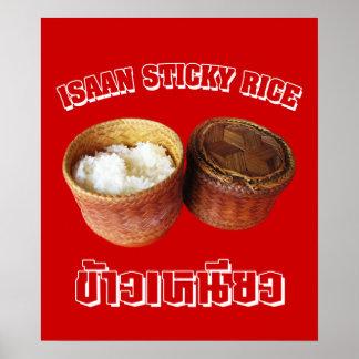 Arroz pegajoso de Isaan [Khao Niao] Posters