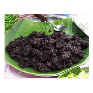 Arroz pegajoso del negro tailandés del Lao [presa Postales