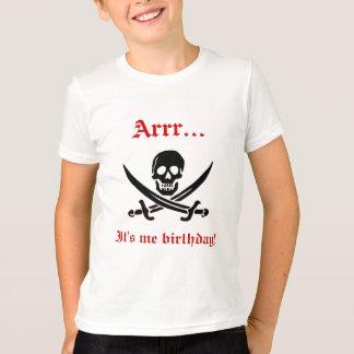 Arrr… es yo camiseta del pirata del cumpleaños polera