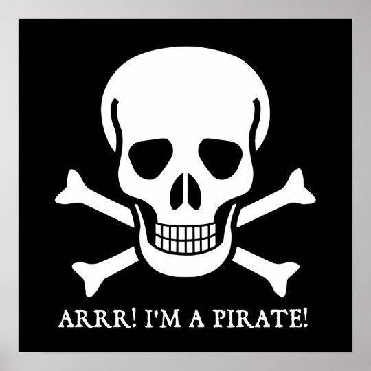 Arrr! I'm a Pirate! Poster