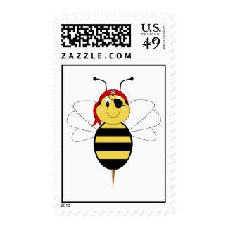 ¡Arrr! La abeja manosea el sello de la abeja