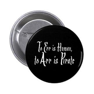Arrr Pirate 2 Inch Round Button