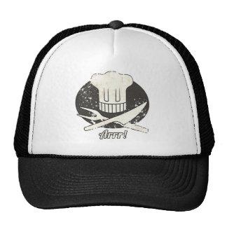Arrr Pirate Chef Vintage Mesh Hats