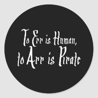 Arrr Pirate Classic Round Sticker