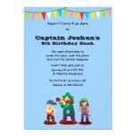 "Arrr! Pirates Birthday Party Custom Invitation 5"" X 7"" Invitation Card"