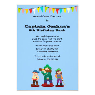 Arrr! Pirates Birthday Party Custom Invitation