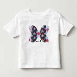 ARRR! Skull Bones Polka Dot Bow Toddler T-shirt