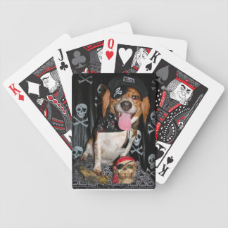 Arrrf, Pirate Beagle dog playing cards