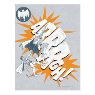 ARRRGH Batman And Robin Climb Graphic Postcard