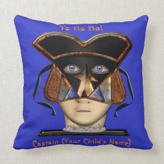 Arrrgh! Kids Guardian Pirate (Personalized) Throw Pillow