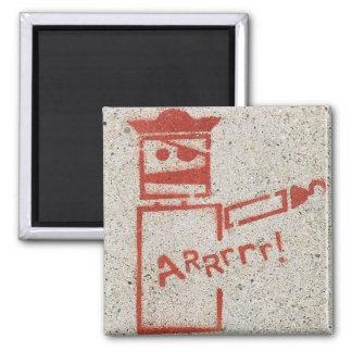 Arrrr 2 Inch Square Magnet