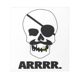 ¡ARRRR! Cráneo del pirata Libreta Para Notas