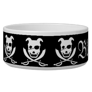 Arrrr it's the doggy roger! customizable bowl