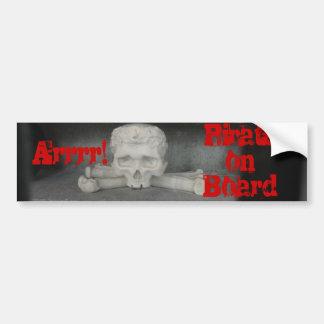 Arrrr, Pirate on Board Bumper Sticker Car Bumper Sticker