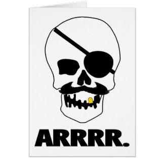 ARRRR Pirate Skull Greeting Card