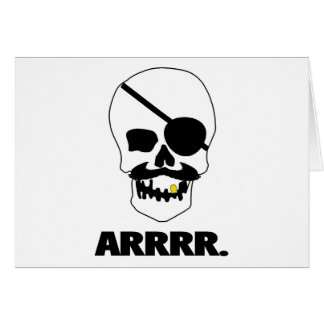ARRRR Pirate Skull Card