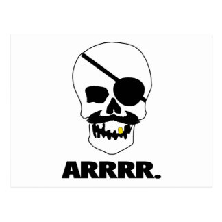 ARRRR Pirate Skull Post Card