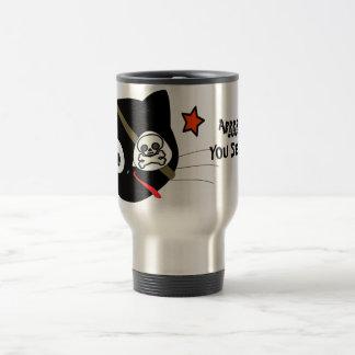 ARRRR YOU SERIOUS? Pirate Cat Aluminum Travel Mug