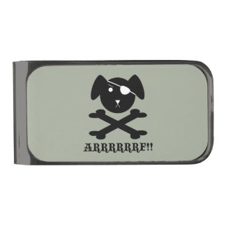 ARRRRF! GUNMETAL FINISH MONEY CLIP