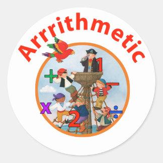Arrrrithmetic Classic Round Sticker